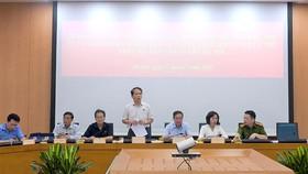 Chủ nhiệm Ủy ban Pháp luật Hoàng Thanh Tùng phát biểu tại buổi làm việc