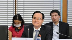 Bộ trưởng Bộ Giáo dục và Đào tạo Phùng Xuân Nhạ tại hội nghị