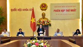 Toàn cảnh phiên họp thứ nhất của Hội đồng Bầu cử quốc gia