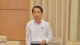 Chủ nhiệm Ủy ban Pháp luật Hoàng Thanh Tùng báo cáo tại phiên họp