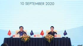 Phó Chủ tịch Thường trực Quốc hội Tòng Thị Phóng và Chủ tịch Quốc hội Nguyễn Thị Kim Ngân tại phiên họp toàn thể thứ 2 của Đại hội đồng AIPA 41