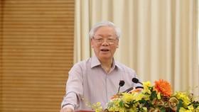 """Tiếp xúc cử tri Hà Nội, Tổng bí thư, Chủ tịch nước Nguyễn Phú Trọng: """"Lãnh đạo phải bản lĩnh, có phương pháp và đặc biệt là phải đoàn kết"""""""