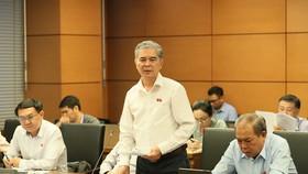 ĐB Ngô Minh Châu (TPHCM) phát biểu tại phiên họp tổ chiều 2-11