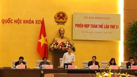 Toàn cảnh phiên họp toàn thể của Ủy ban Pháp luật của Quốc hội sáng 14-11. Ảnh: QUANG PHÚC