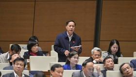 ĐB Nguyễn Mai Bộ phát biểu tại hội trường sáng 17-11. Ảnh: QUANG PHÚC