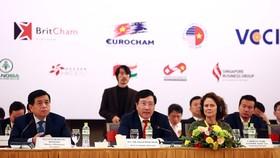 Phó Thủ tướng Chính phủ, Bộ trưởng Bộ Ngoại giao Phạm Bình Minh phát biểu tại VBF cuối kỳ 2020