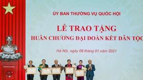 Huân chương Đại đoàn kết Dân tộc được trao tặng lãnh đạo Quốc hội