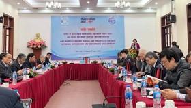 Viện trưởng Viện Nghiên cứu Quản lý kinh tế Trung ương (CIEM) Trần Thị Hồng Minh phát biểu khai mạc hội thảo