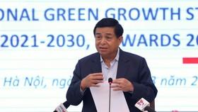 Bộ trưởng Bộ Kế hoạch và Đầu tư Nguyễn Chí Dũng phát biểu khai mạc Hội nghị