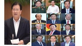 Trình Quốc hội miễn nhiệm một Phó Thủ tướng và 12 Bộ trưởng  