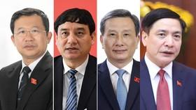 Từ trái qua phải, các ông: Vũ Hải Hà, Nguyễn Đắc Vinh, Lê Quang Huy, Bùi Văn Cường