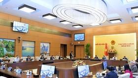 Toàn cảnh một phiên họp của UBTVQH khóa XIV