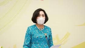 Trưởng ban Công tác đại biểu Nguyễn Thị Thanh. Ảnh: QUANG PHÚC