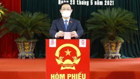 Đồng chí Vương Đình Huệ lần đầu tiên thực hiện quyền nghĩa vụ trên cương vị Chủ tịch Quốc hội