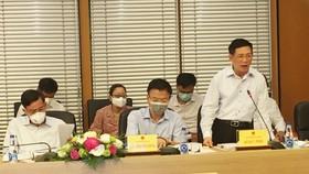 Bộ trưởng Bộ Tài chính Hồ Đức Phớc phát biểu tại phiên họp