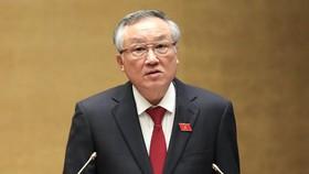 Chánh án TAND tối cao Nguyễn Hoà Bình trình đề nghị Quốc hội phê chuẩn việc bổ nhiệm nhân sự Thẩm phán TAND tối cao