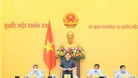 Chủ tịch Quốc hội Vương Đình Huệ chủ trì cuộc họp