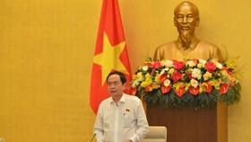 Phó Chủ tịch Thường trực Quốc hội Trần Thanh Mẫn phát biểu tại phiên họp