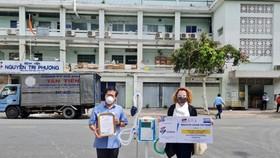 Một máy thở đã được chuyển đến Bệnh viện Nguyễn Tri Phương tại TPHCM