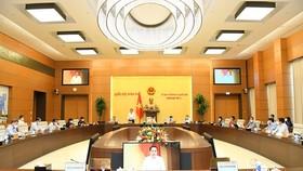 Một phiên họp của Ủy ban Thường vụ Quốc hội khóa XV