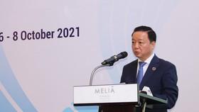 Bộ trưởng Bộ TN-MT Trần Hồng Hà phát biểu khai mạc hội nghị