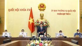 Chủ tịch Quốc hội Vương Đình Huệ khai mạc phiên họp thứ 4 của UBTVQH. Ảnh: TTXVN