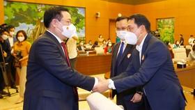 Chủ tịch Quốc hội gặp mặt đại diện Đoàn đại biểu các lãnh đạo doanh nghiệp Việt Nam