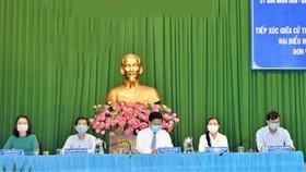 Quang cảnh hội nghị tiếp xúc cử tri