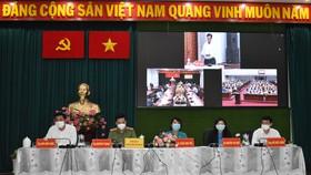 Các ứng cử viên ĐBQH đơn vị bầu cử số 2 tại buổi tiếp xúc cử tri quận 1, 3, Bình Thạnh