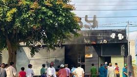 Nhà hàng nơi xảy ra vụ cháy.
