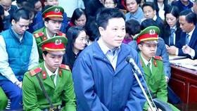 Hà Văn Thắm tại phiên tòa sơ thẩm xét xử vụ án tại Oceanbank tháng 3-2017