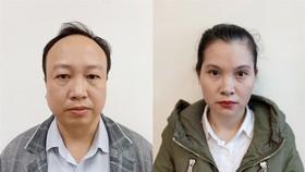 Bị can Nguyễn Đức Toàn và bị can Trần Thị Thanh Tâm.