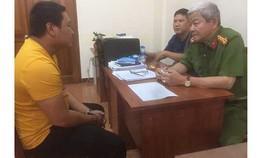 Đại tá Lê Ngọc Phương, Phó Cục trưởng Cục Cảnh sát hình sự, Bộ Công an lấy lời khai với Tâm