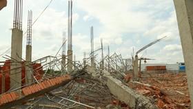 Công an tỉnh Đồng Nai thông tin kết quả điều tra ban đầu vụ sập tường rào đè chết 10 người. Ảnh: VŨ PHONG