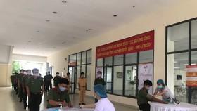 Cán bộ, chiến sĩ Công an TPHCM tham gia hiến máu cứu người trong đợt giãn cách xã hội vì dịch Covid-19 vào tháng 4 vừa qua