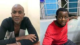 Hai đối người Nigeria tại cơ quan công an