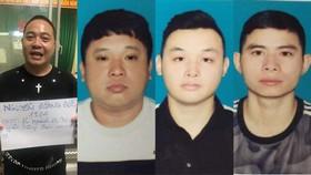Nhóm đối tượng gồm: Đức - Nam - Long - Phú (từ trái qua phải) tại cơ quan công an