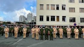CSGT TPHCM tiếp nhận gần 400 cán bộ chiến sĩ tăng cường chống dịch Covid-19