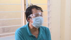 Bị can Thuận tại cơ quan công an