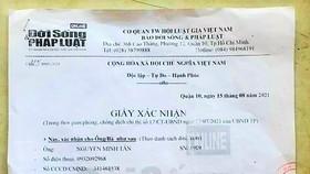 Khởi tố nhóm sử dụng giấy xác nhận báo chí giả để thông chốt kiểm dịch