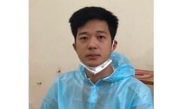 Đối tượng Nguyễn Việt Vương lúc bị bắt