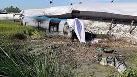 Hiện trường vụ tai nạn đường sắt tại Thanh Hoá