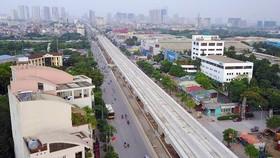 Đường sắt đô thị Nhổn - ga Hà Nội dự kiến khai thác trước 8,5km từ năm 2020
