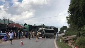 Hiện trường vụ tai nạn nghiêm trọng làm 12 người bị thương tại Sơn La