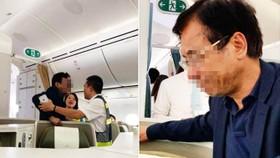 Nam hành khách trong tình trạng say xỉn và có hành vi sàm sỡ nữ hành khách.Ảnh: MXH