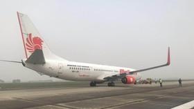 Máy bay của Hãng hàng không Malindo Air vừa phải quay đầu hạ cánh do nổ lốp