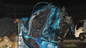 Chiếc xe bị hư hỏng nặng sau vụ tai nạn