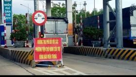 Trạm thu phí miễn phí đối với phương tiện cứu trợ người dân Quảng Trị