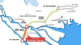 Sơ đồ dự án đường cao tốc Mỹ Thuận - Cần Thơ
