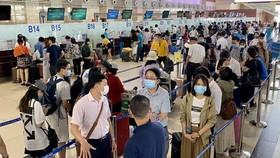 Lượng hành khách đến sân bay Tân Sơn Nhất thời điểm trước tháng 5-2021